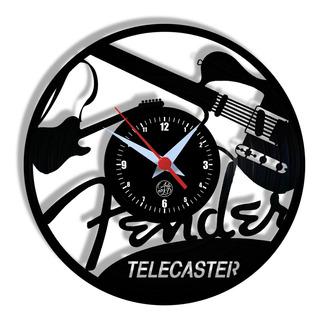 Relógio De Parede Vinil - Guitarra Instrumento Música
