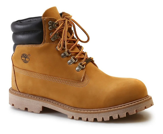 Bota Masculina Timberland Couro Brooklyn Boot Wheat Original