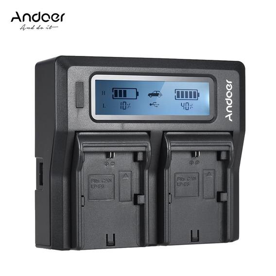 Andoer Lp -e6 Lp E6n - Bateria Câmera Digital Dual Canal Da
