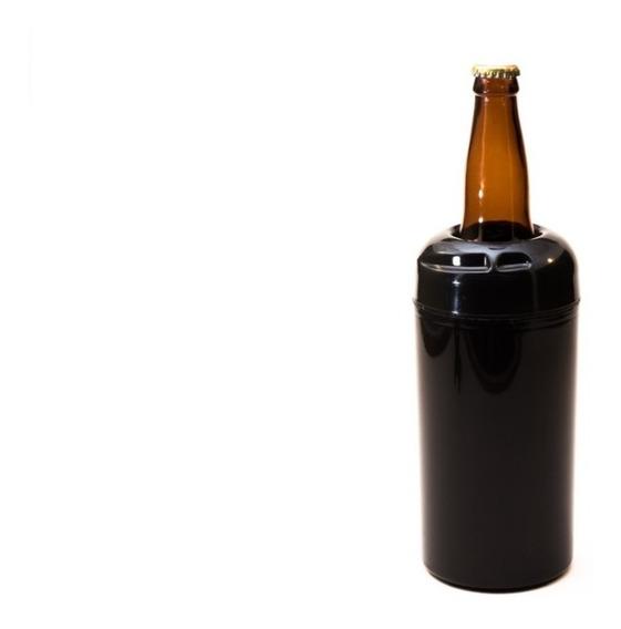 Kit 12 Porta Garrafa Térmico Camisinha Cerveja 600 Ml Preto