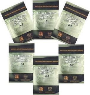 Colección De Enciclopedias Jurídica Mexicana Tomos 1 - 6
