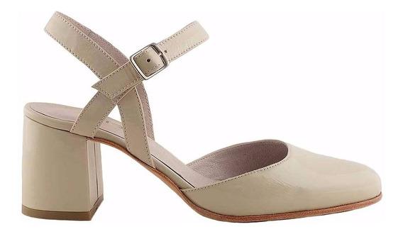 Zapato Cuero Mujer Briganti De Vestir Taco - Mccz03463 Ch