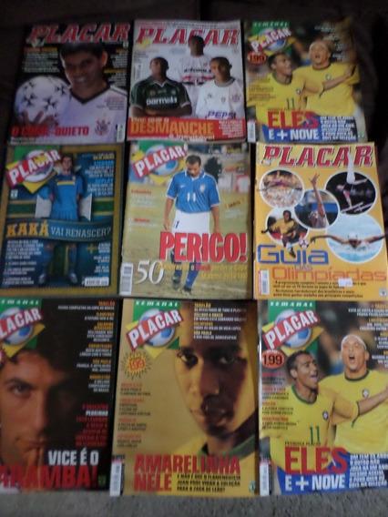 Lote Com 9 Revistas Placar Inter Vasco São Paulo Palmeiras