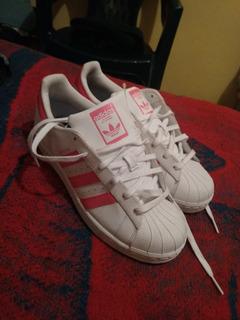 Tenis adidas Superstar Rosas Unisex Talla #24 Mxn.