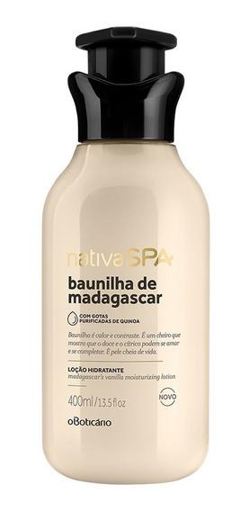 Nativa Spa Baunilha De Madagascar Loção Hidratante Corporal Desodorante, 400ml