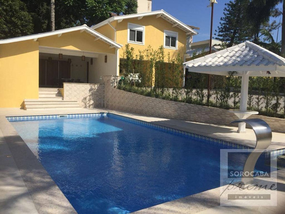 Casa Com 4 Dormitórios À Venda, 790 M² Por R$ 4.450.000 - Condomínio Santa Maria - Sorocaba/sp, Próximo Ao Shopping Iguatemi. - Ca0030