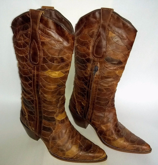 Bota Country Feminina Texana Lady Silver 100% Escamada 38