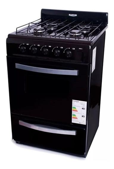 Cocina Horno Martiri Negra 56 Cm Valvula Seguridad Cuotas