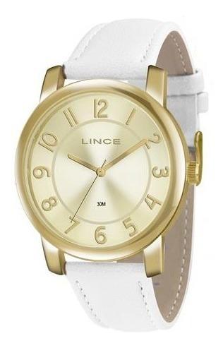 Relógio Feminino Lince Dourado Lrc4336l Promoção