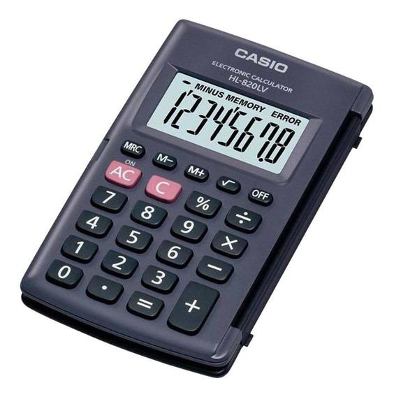 Calculadora De Bolso Casio Hl-820lv-bk 8 Dígitos Preta