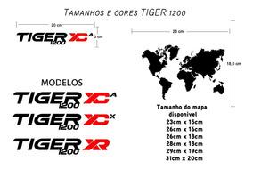 Adesivo Mapa Mundi Para Bauleto E Bau Triumph Tiger 1200 Xc