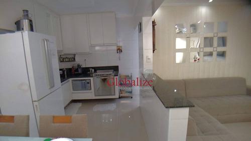 Apartamento Com 2 Dormitórios À Venda, 53 M² Por R$ 270.000,00 - Vila São Jorge - São Vicente/sp - Ap1021