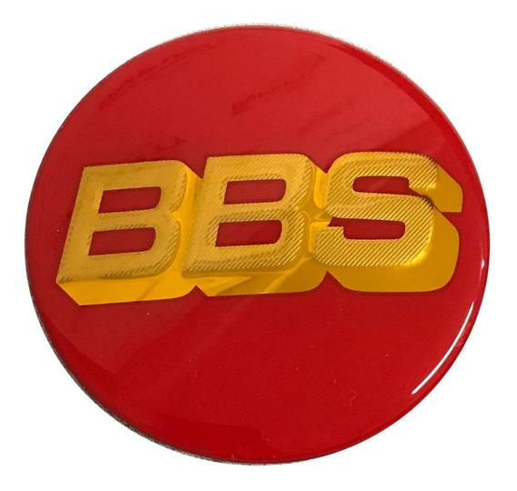 Jogo 4 Emblema Adesivo Bbs Gt Infinity Vermelho Dourado 65mm