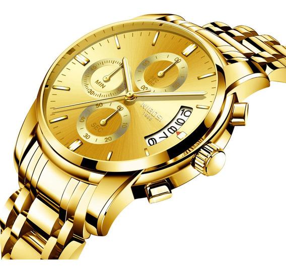 Relógio Masculino Nibosi Original Analógico 2353 Luxo Caixa