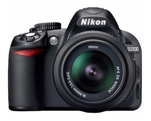 Câmera Nikon D3100 + 18-55mm + Bateria + Carregador + Alça +