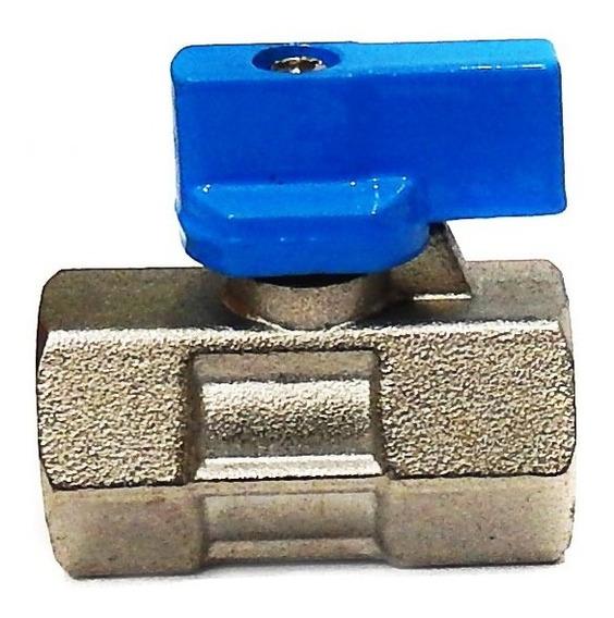 Válvula De Esfera Mini 1/4 F/f Steula Mff-1/4