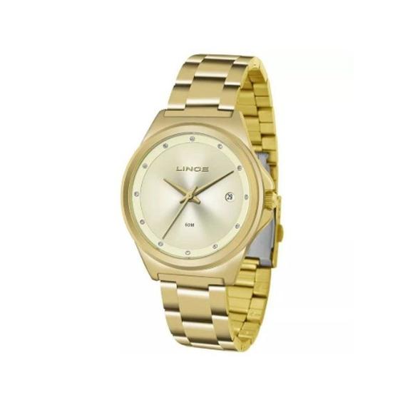 Relógio Lince Feminino Dourado Lrg4567l C1kx