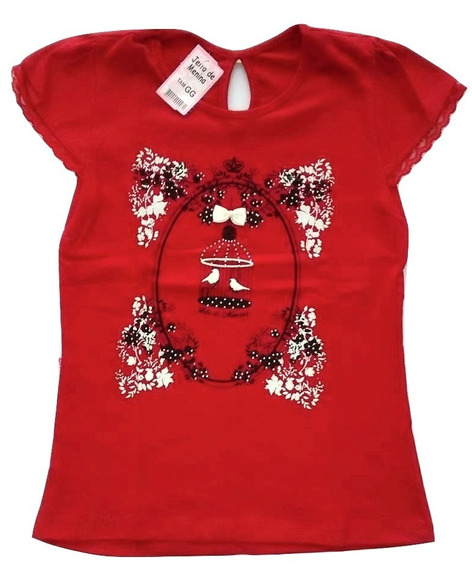 Blusa Infantil Feminina 6 Camiseta Blusinh Infantil Feminina