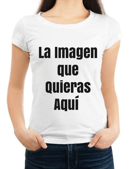 Playera Personalizada Blanca Dama Con La Imagen Que Quieras