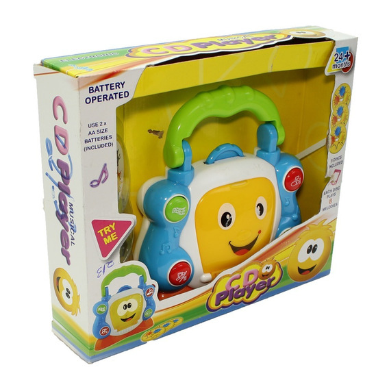 Cd Player Interativo De Brinquedo Para Bebe Aprender
