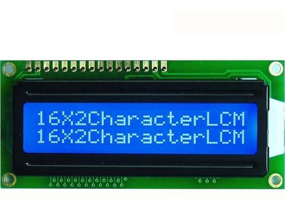 Display Lcd 16x2 Arduino Pic Backligth Azul + Barra 16 Pinos