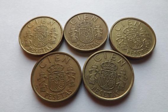 Espanha- 100 Pesetas 1982,1983,1984,1985 E 1986
