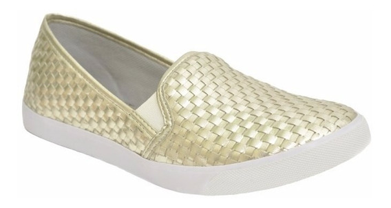 Sapato Feminino Alpargata Tresset Dourada Lançamento