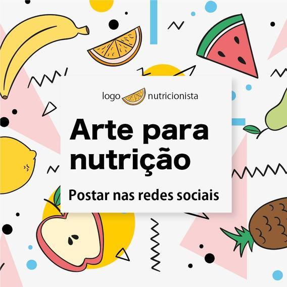 Pacote 20 Artes Nutrição + Arte Cartão De Visita