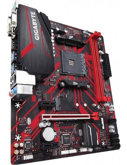 Placa Mãe Gigabyte B450m Gaming Para Am4 + Ryzen 5 1600
