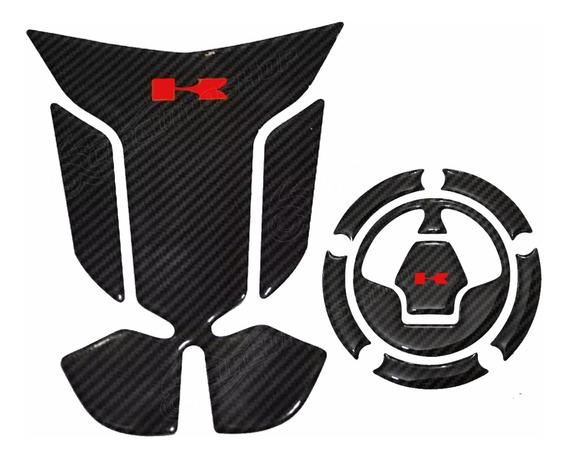 Protetor Tanque Tankpad Bocal 3d M15 Moto Kawasaki Zx 10 R