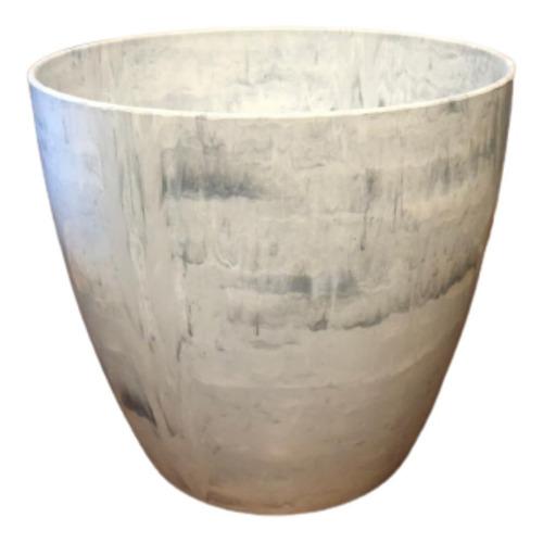 Imagem 1 de 3 de Cachepô Elegance Redondo 04 Branco Carrara