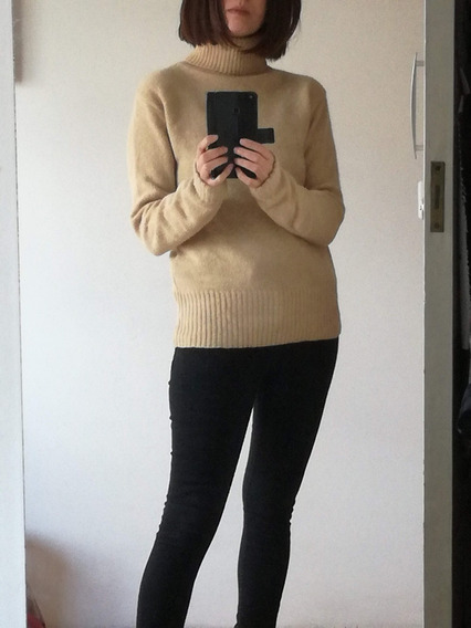 Sweater Polera Nmd S Beige De Lana Y Angora Impecable