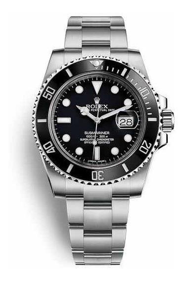 Rolex Submariner Date Preto 1 Linha