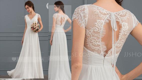 Vestido Noiva Renda Romântico G E Gg