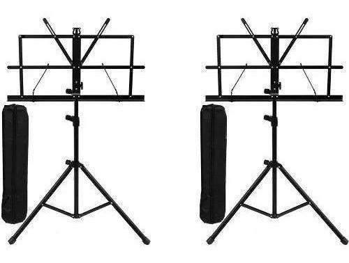 Kit 2x Estante Suporte Partitura Pedestal Com Bolsa Bag