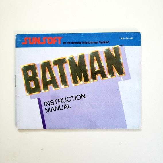 Manual Batman The Video Game Original Nes Nintendinho