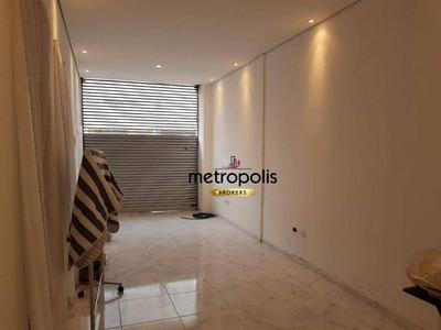 Salão Para Alugar, 90 M² Por R$ 2.500/mês - Santa Paula - São Caetano Do Sul/sp - Sl0083