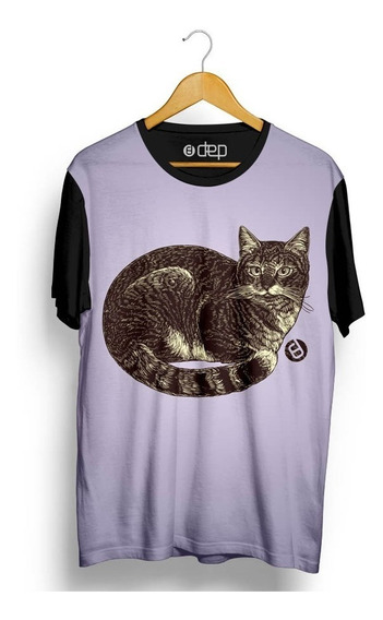 Camiseta Dep Gato Lilás Original