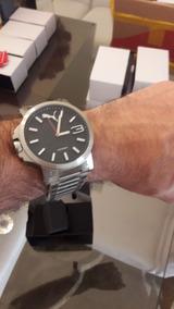Relógio Puma Masculino Original Mod. Aço Inox Polido