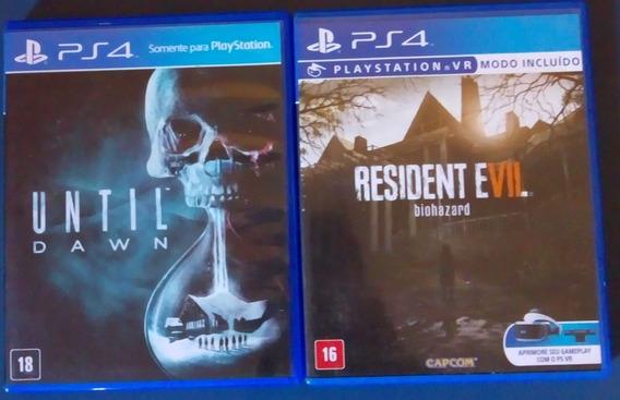 Resident Evil E Until Dawn -ps4