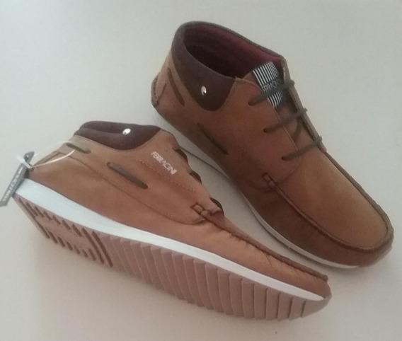 Sapato Ferracini Marrocos Nobuck Mostarda