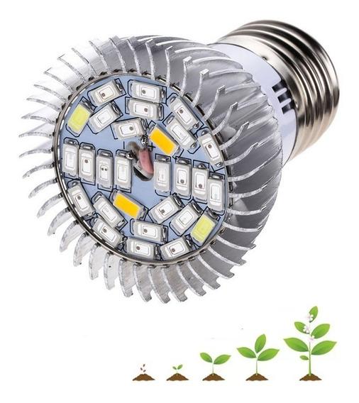 Lampada Led Grow 28w Plantas Cultivo Indoor Estufa Full Spec