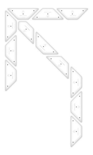 Imagen 1 de 4 de Kit Flecha Simple Curva 45 Izquierda Placa No Pintura Vial