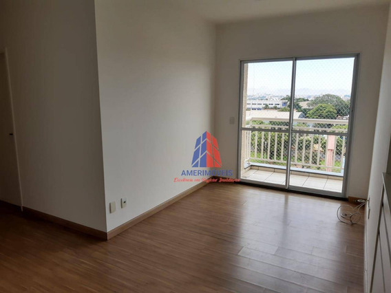 Apartamento Com 3 Dormitórios Para Alugar, 70 M² Por R$ 1.200/mês - Residencial Clube Colorê - Vila Belvedere - Americana/sp - Ap1118