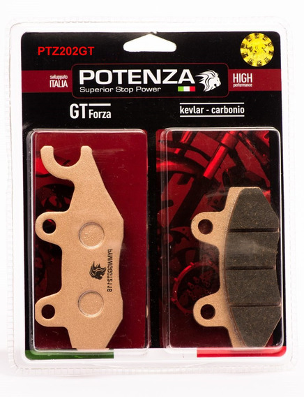 Pastilhas Freio Potenza Traseir Ptz202gt Tiger Explorer 1200