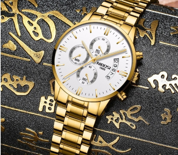 Relógio Blindado Nibosi Masculino Anti-risco Funcional Luxo.