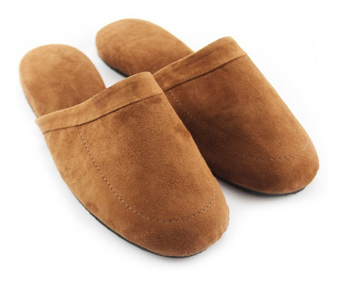 Pantuflas En Gamuza. Zapatos Para Hogar Cómodos Hombre