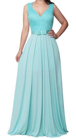 Vestido Feminino Longo Evasê 076