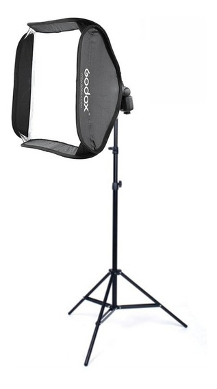 Softbox Para Flash Speedlight 60x60 Cm Com Tripé 2 Metros