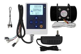 Medidor Caudalimetro Liquidos 1 Efecto Hall Con Termometro